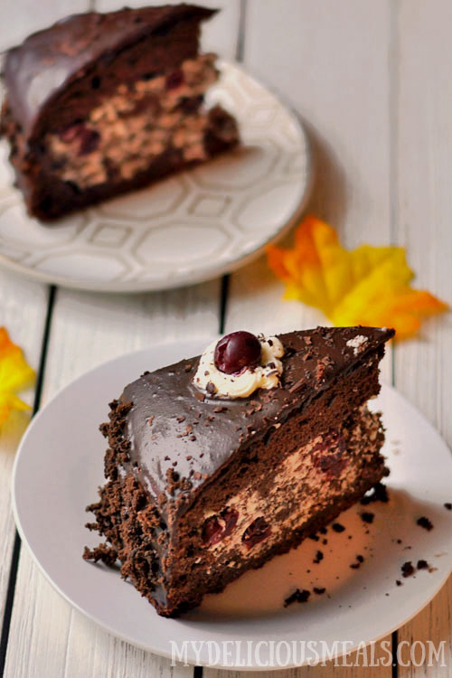 Boozy Cherry Chocolate Cake Recipe