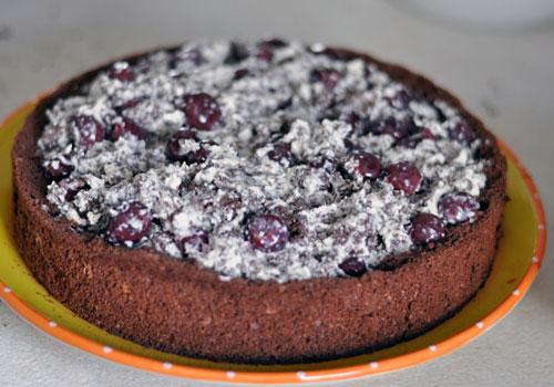 Рецепт шоколадного торта с вишней