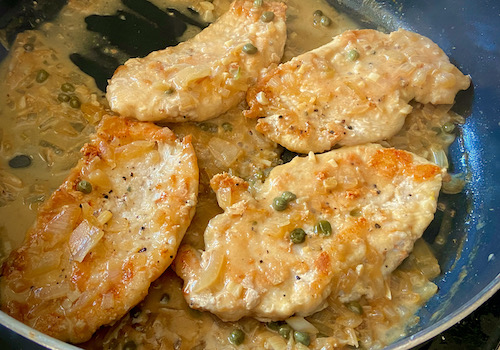 Chicken Fillets in a Light Lemony Sauce  {Piccata}
