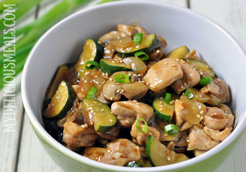 Chicken, Zucchini and Mushroom Stir Fry