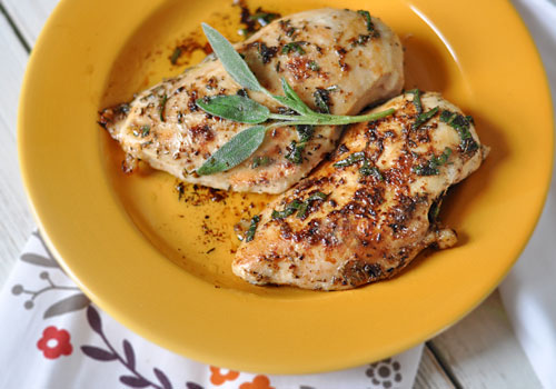 Easy Chicken Breast Recipe with Sage and Thyme