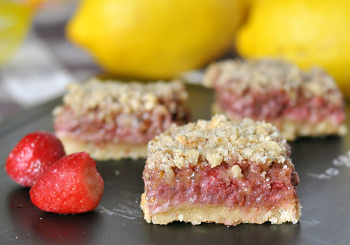 Healthy Strawberry Walnut Squares
