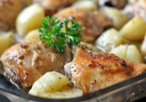 Lemon Chicken and Potatoes in Oven
