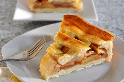 пирог из яблок и груш