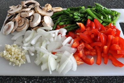 Asparagus, Mushrooms and Pepper Stir-Fry photo instruction 2