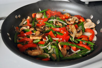 Asparagus, Mushrooms and Pepper Stir-Fry photo instruction 3