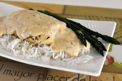 Baked Cod with Creamy Sauce photo instruction 4