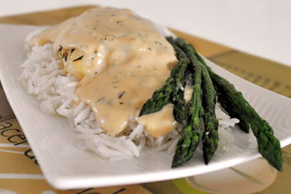 Baked Cod with Creamy Sauce