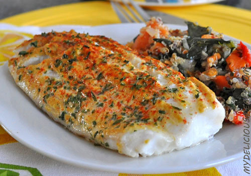 Baked Cod with Mustard and Paprika