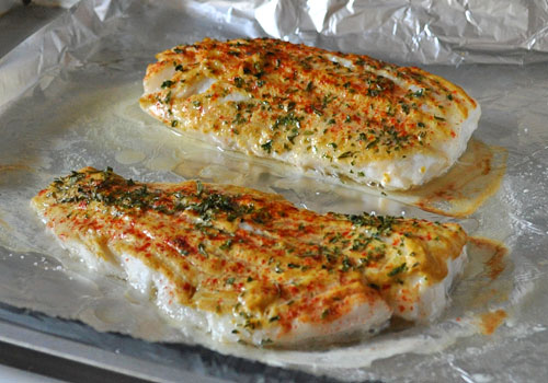 Baked cod with mustard and paprika for How to cook cod fish