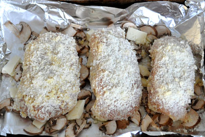 Baked Parmesan Garlic Chicken with Mushrooms photo instruction 5