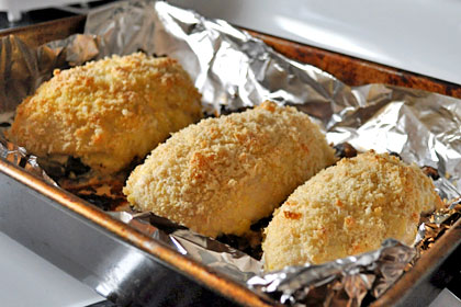 Baked Parmesan Garlic Chicken with Mushrooms photo instruction 6