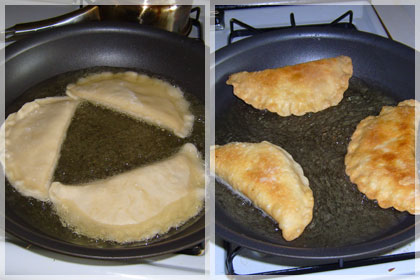 Beef Chebureki (Deep Fried Beef Dumplings) photo instruction 6