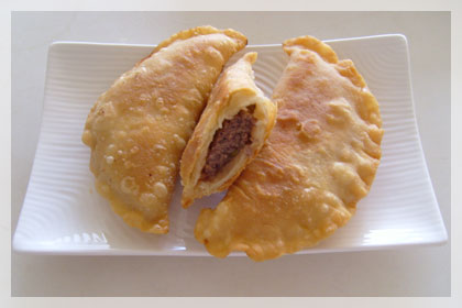 Beef Chebureki (Deep Fried Beef Dumplings)