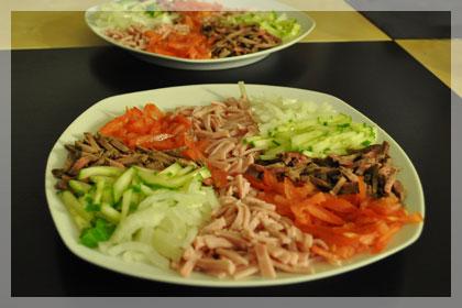 Белорусский салат из говядины (Папарац Кветка)