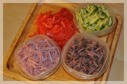 Белорусский салат из говядины (Папарац Кветка) фото инструкция 2