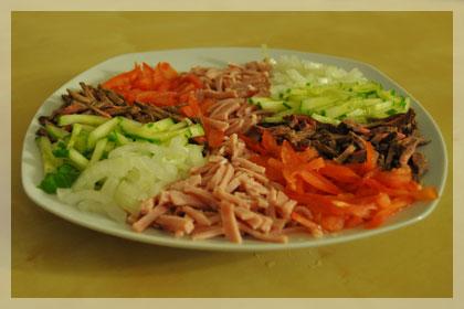 Белорусский салат из говядины (Папарац Кветка) фото инструкция 3