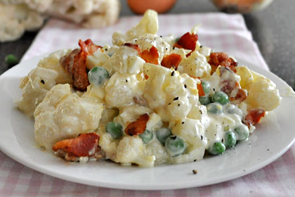 Cauliflower Salad with Peas
