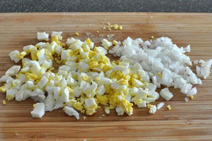 Салат из Цветной Капусты с Горошком пошаговое фото 3