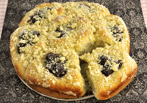 Cherry Buns with Crumb Topping photo instruction 8