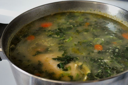 Chicken Barley Soup with Kale photo instruction 6