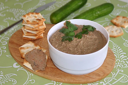 how to make chicken liver pate with brandy
