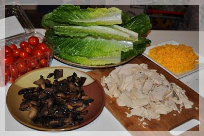 Салат с курицей и грибами Портобелло фото инструкция 1