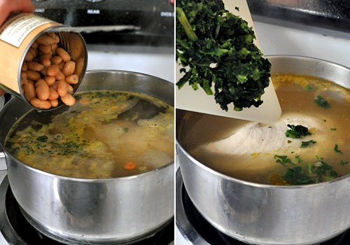 Chicken Soup with White Beans and Kale photo instruction 4