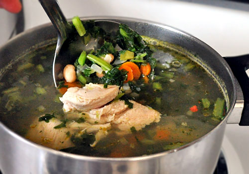 Chicken Soup with White Beans and Kale photo instruction 5