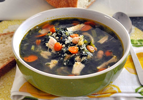 Chicken Soup with White Beans and Kale photo instruction 6