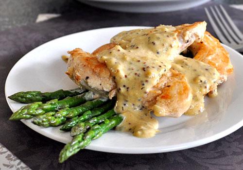 Chicken Tenderloins With Mustard Thyme Sauce Mydeliciousmeals Com