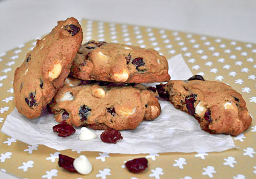 Chocolate and Cranberry Easy Christmas Cookies