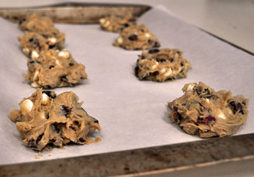 Chocolate and Cranberry Easy Christmas Cookies photo instruction 4