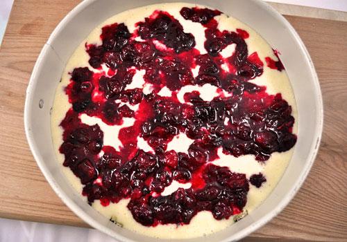 Пирог с клюквой и сливочной начинкой пошаговое фото 7
