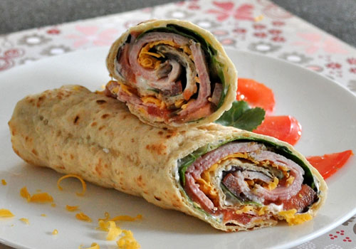 Easy Lunch Wrap with Ham