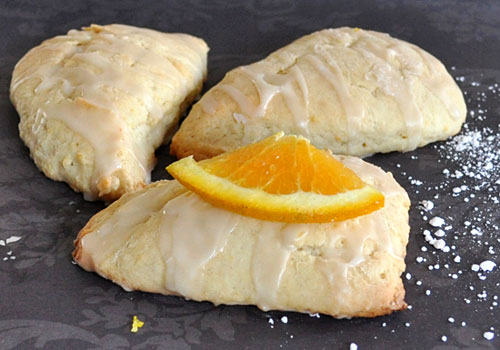 Egg Free Glazed Orange Scones | Mydeliciousmeals.com