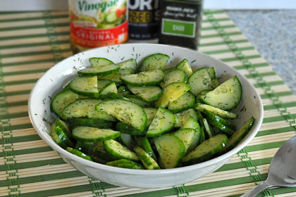 English Cucumber Dill Salad Mydeliciousmeals Com