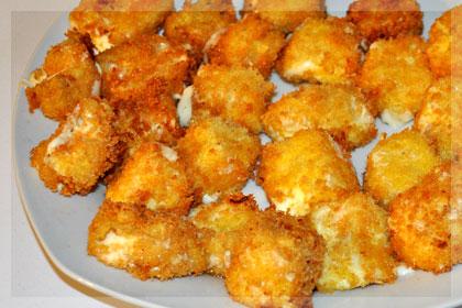 Fried Mozzarella Cubes Mydeliciousmeals Com
