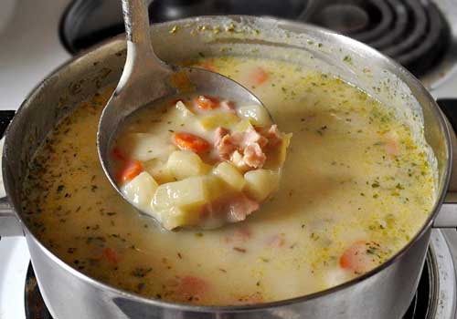 Ham and Potato Soup with Leeks | Mydeliciousmeals.com