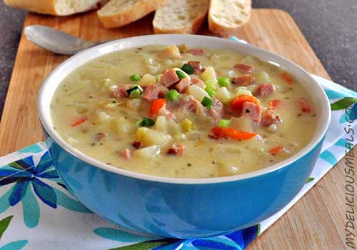 Ham and Potato Soup with Leeks
