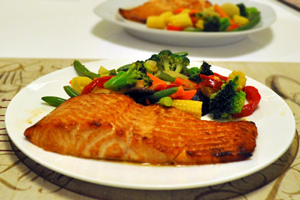 Marinated Broiled Salmon
