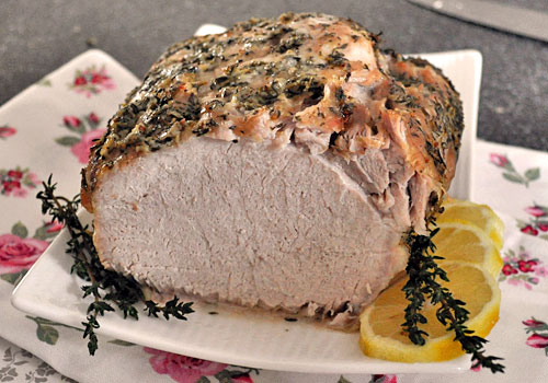 Pork Loin with Lemon, Garlic and Thyme