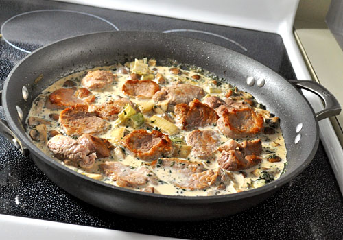 Pork with Mushrooms and Leeks photo instruction 4