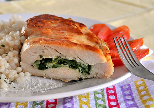 Quick Spinach Stuffed Chicken Breasts