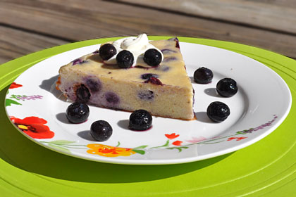 Russian Blueberry Zapekanka (Cheesecake)