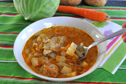 Russian Cabbage Soup Shchi