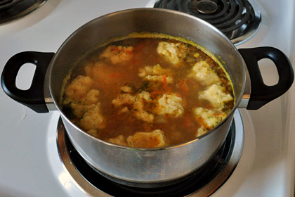 Russian Chicken and Dumpling Soup photo instruction 3