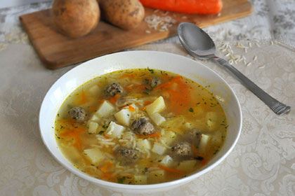 Russian Meatball Soup