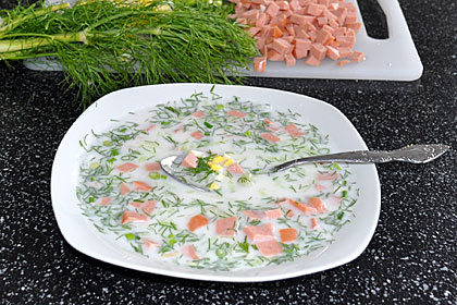 Russian Okroshka (Cold Soup)
