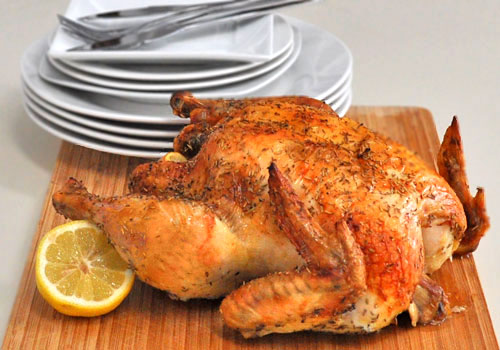 Simple and Juicy Roasted Chicken
